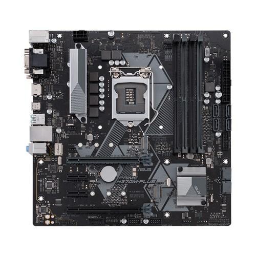 Сист. плата Asus PRIME H370M-PLUS, H370, S1151, 4xDIMM DDR4, 2xPCI-E x16, 4xPCI-E x1, 2xM.2, 6xSATA, HDMI,