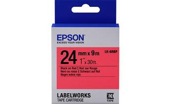Лента пастельная Epson C53S627400, LC-6RBP9, 24 мм, красная/черная, 9м