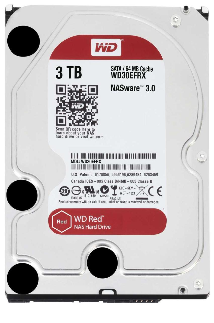 """Накопитель на жестком магнитном диске WD Жёсткий диск WD Red™ WD30EFRX 3ТБ 3,5"""" 5400RPM 64MB (SATA-III) NAS"""