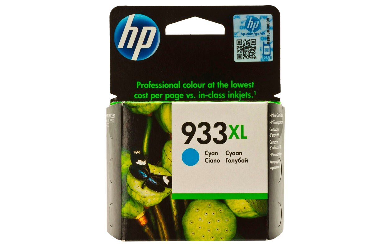 HP CN054AE Cyan Ink Cartridge №933XL for OfficeJet 7110/6100/7510, up to 825 pages.