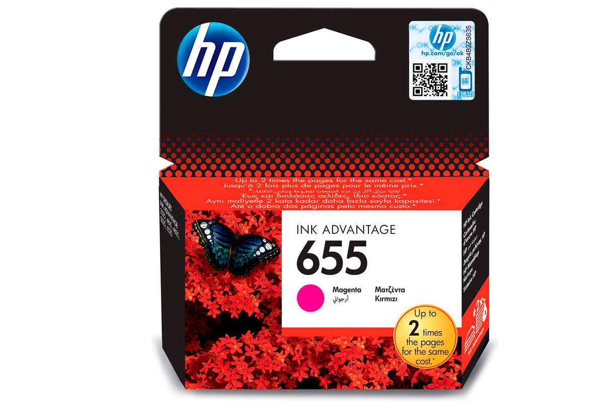 Картридж HP CZ111AE №655 Magenta Ink Cartridge для HP DJ 3525, 4615, 4625, 5525, 6525 e-All-in-One