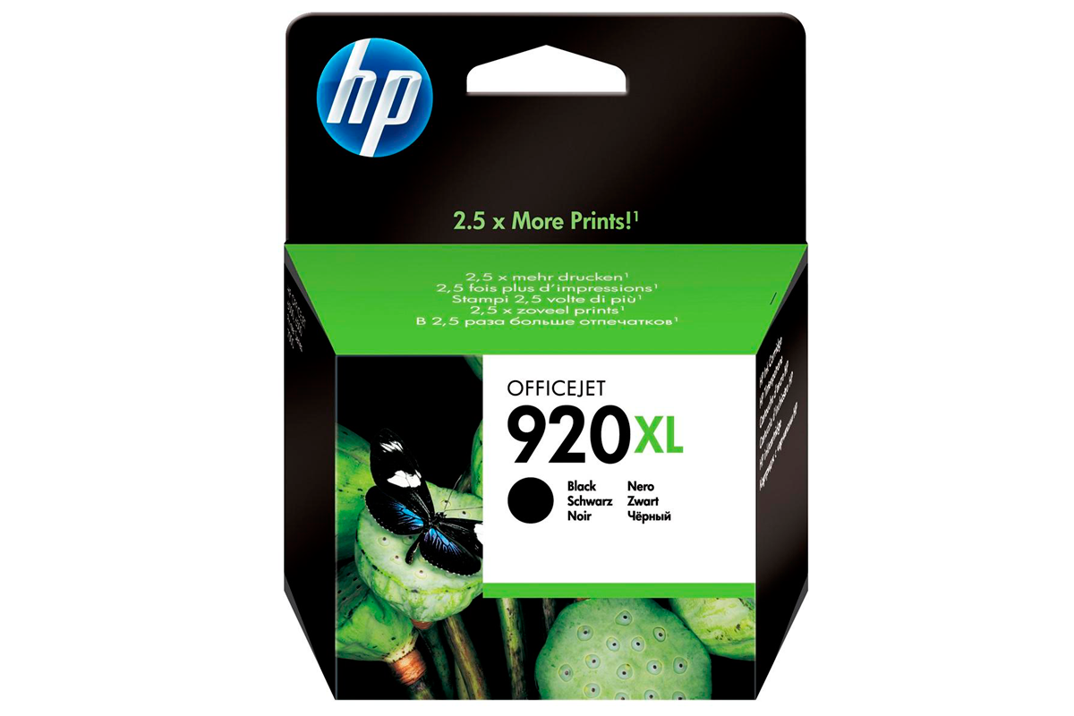 HP CD975AE Black Ink Cartridge №920XL for Officejet 6500/7000, 49 ml, up to 1200 pages.
