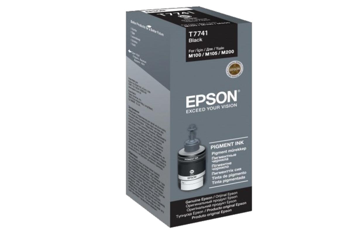 Контейнер с черными пигментными чернилами Epson C13T77414A