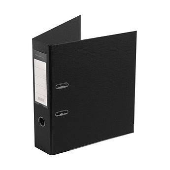 "Папка–регистратор Deluxe с арочным механизмом, Office 3-BK19 (3"" BLACK), А4, 70 мм, чёрный"