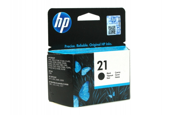 HP C9351AE Black Inkjet Print Cartridge №21 for Deskjet F2180/F380/F4180/4355/1410/J5520/3940/D246, 5 ml, up