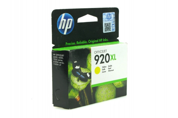 HP CD974AE Yellow Ink Cartridge №920XL for Officejet 6500/7000, 6 ml, up to 700 pages.