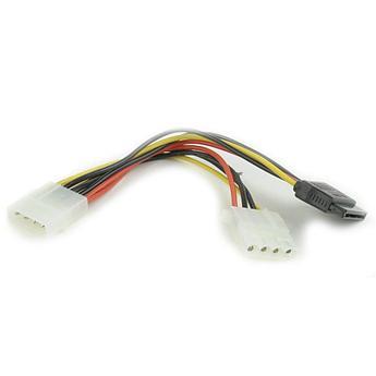 Кабель питания SATA Cablexpert CC-SATA-PSY2, 15см, molex 4pin/molex4pin+sata 15pin, на 2 устр.