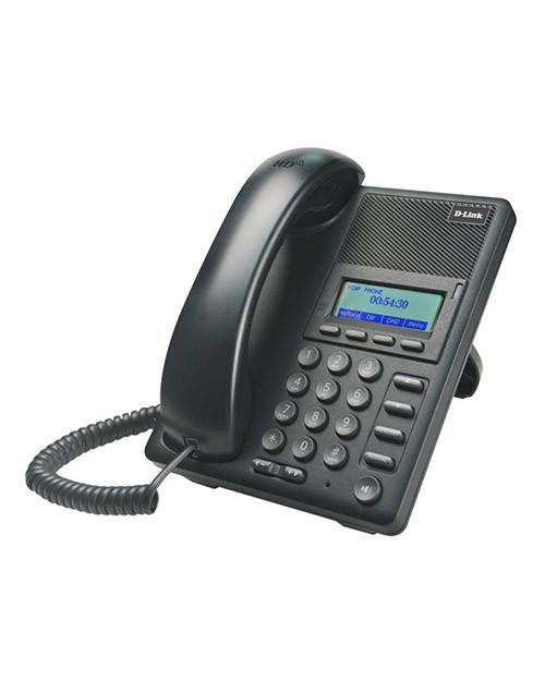 D-Link DPH-120SE IP-телефон с 1 WAN-портом 10/100Base-TX с поддержкой PoE и 1 LAN-портом 10/100