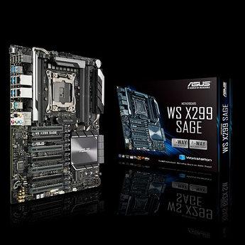 Сист. плата Asus WS X299 SAGE/10G, X299, S2066, 8xDIMM DDR4, 7xPCIe x16, 2xM.2, U.2, 8xSATA 6Gb/s, ATX