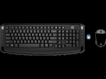 Беспроводная клавиатура и мышь HP Wireless Keyboard and Mouse 300, 3ML04AA
