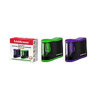 Точилка электрическая ErichKrause® Compact с контейнером, цвет корпуса ассорти (в коробке по 1 шт.)
