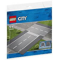 LEGO City 60236 Конструктор Лего Город Прямой и Т- образный перекрёсток