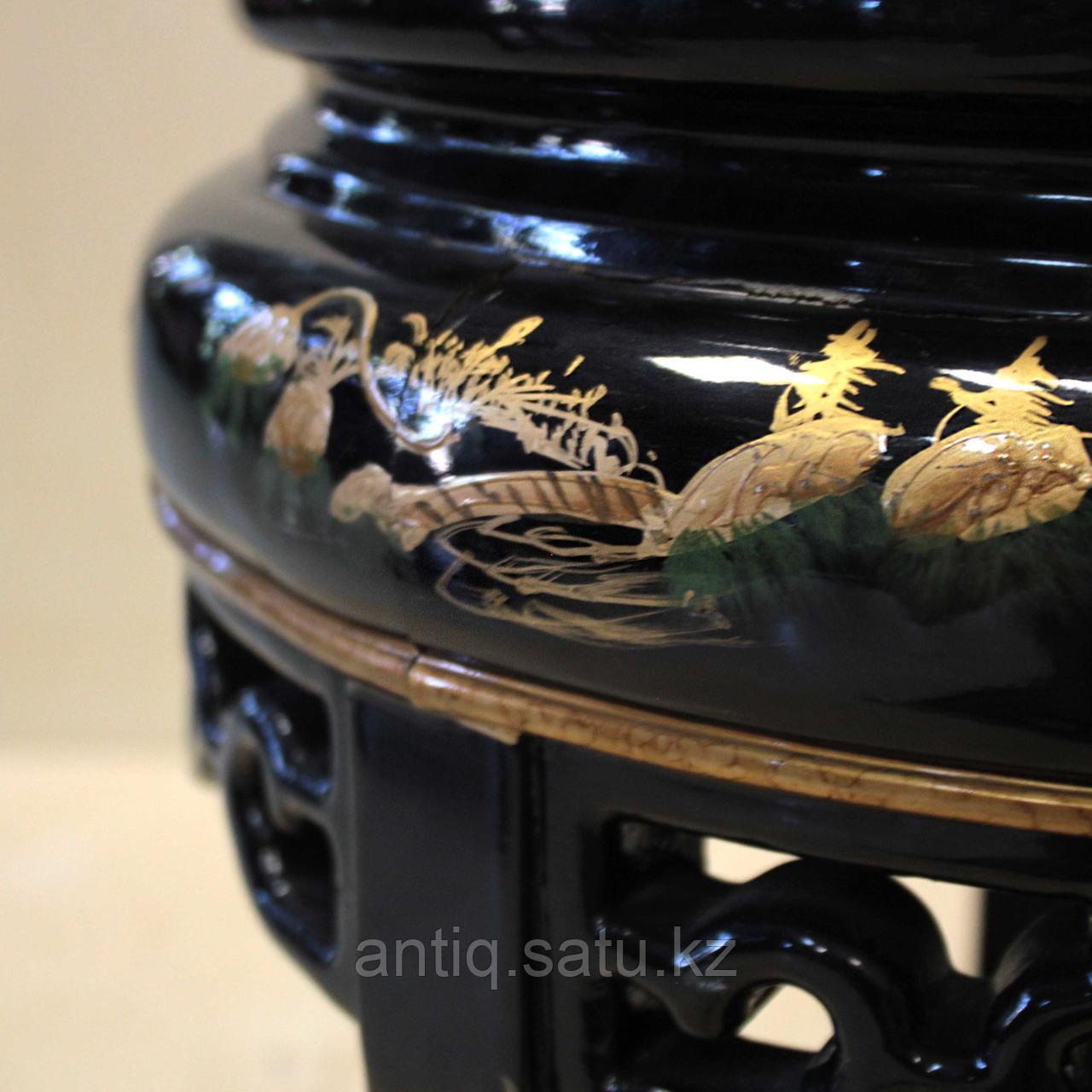 Журнальный столик с черным лаком. Китай (Шинуазри) - фото 4