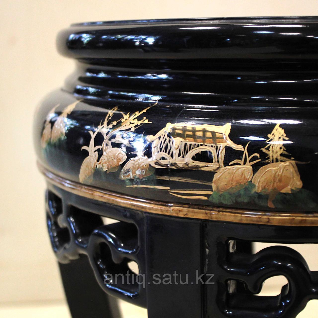 Журнальный столик с черным лаком. Китай (Шинуазри) - фото 6