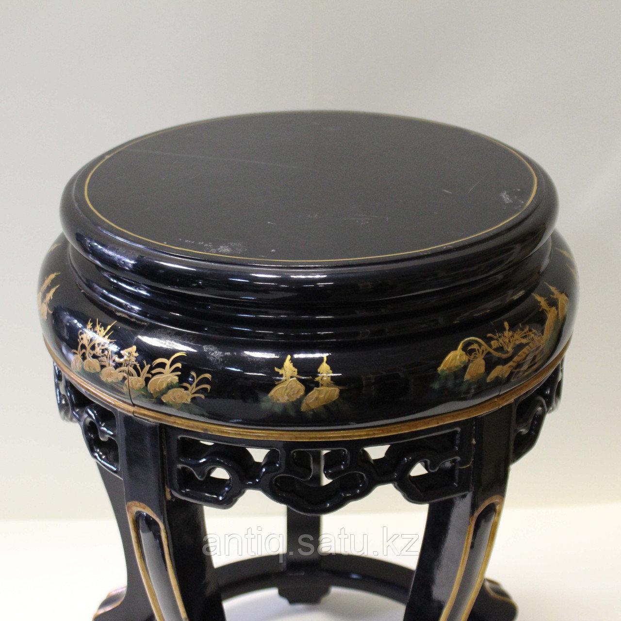 Журнальный столик с черным лаком. Китай (Шинуазри) - фото 7