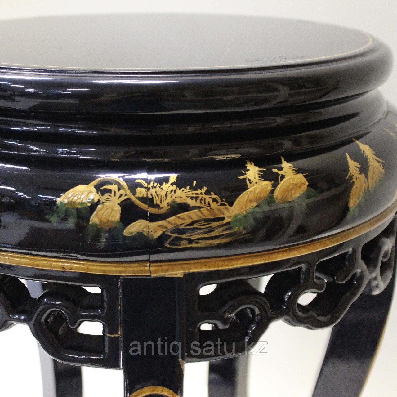Журнальный столик с черным лаком. Китай (Шинуазри) - фото 8