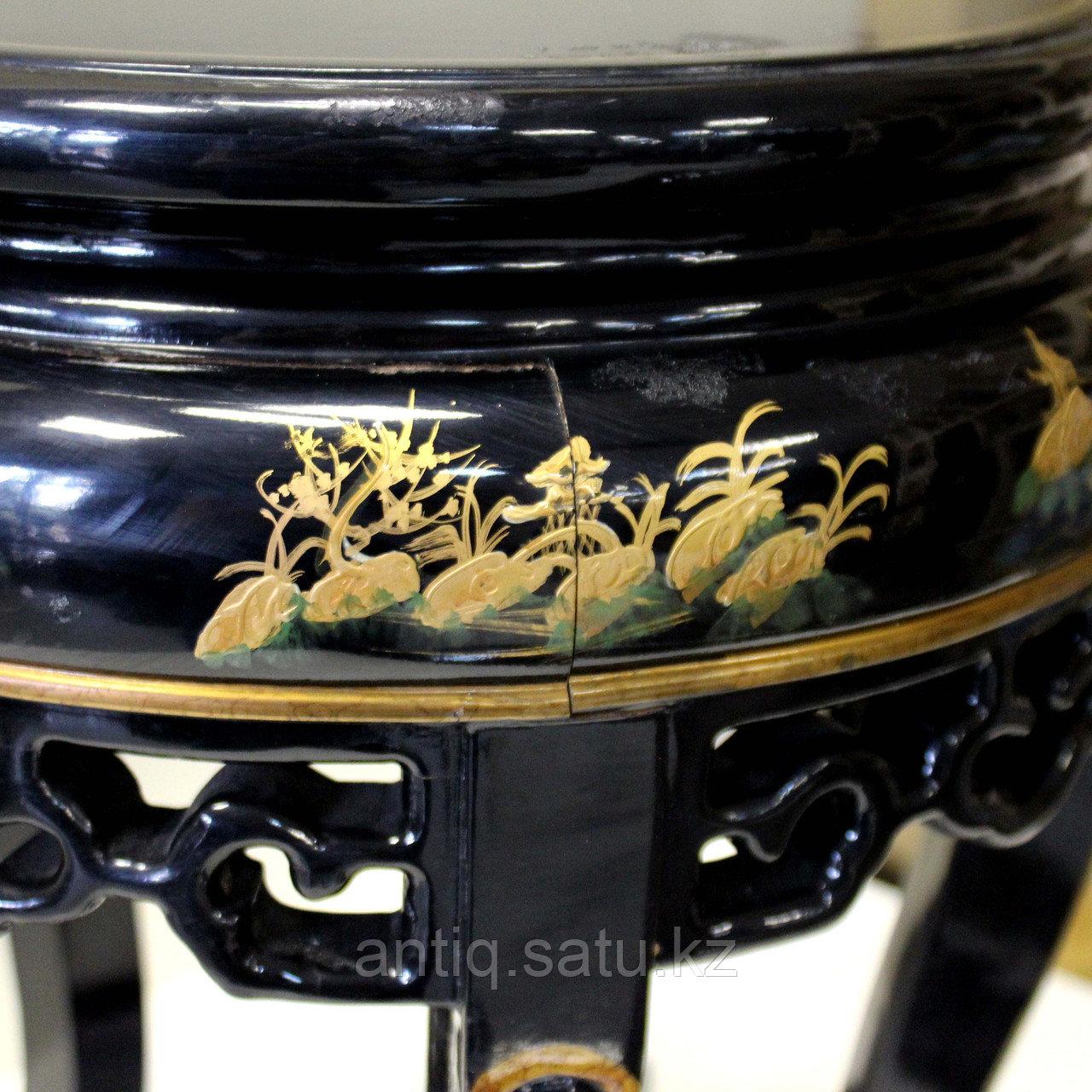 Журнальный столик с черным лаком. Китай (Шинуазри) - фото 9