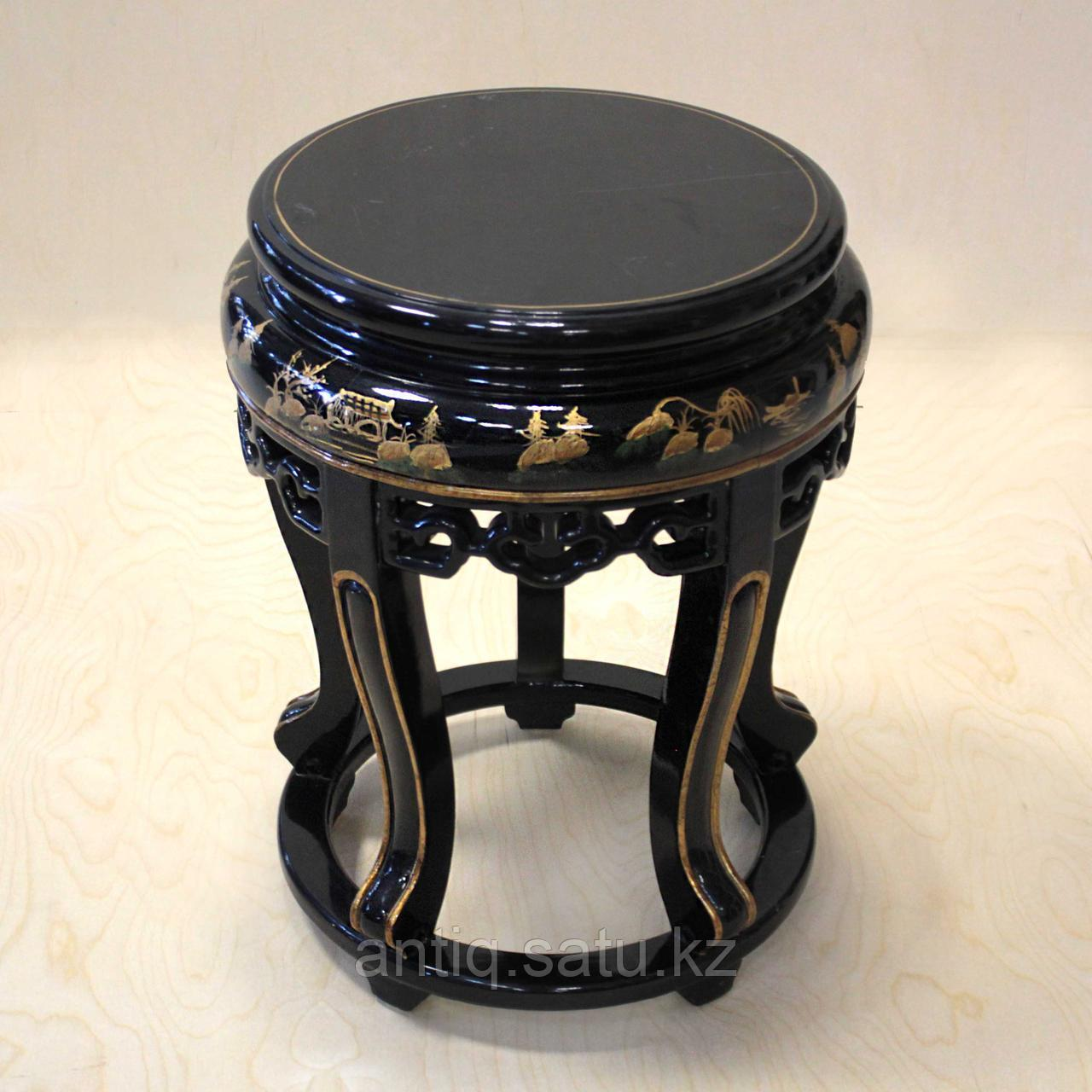 Журнальный столик с черным лаком. Китай (Шинуазри) - фото 2