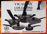 Набор посуды с каменным покрытием и съемными ручками Vicalina VL8801