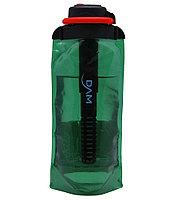 Складная эко бутылка с фильтром для холодных или горячих пищевых жидкостей Vitdam 700 мл (светло-зел, фото 1