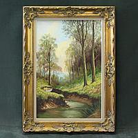 «Лесной пейзаж с речкой»