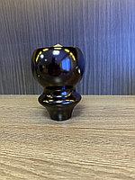 Ножка мебельная, деревянная, точенная, 12 см, black