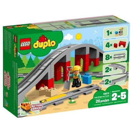 Конструктор LEGO DUPLO 10872 Железнодорожный мост и рельсы