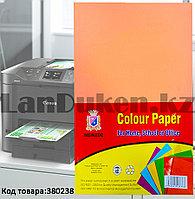 Бумага А4 (210х295 мм) для цифровой печати 80 листов неоново-персиковый цвет