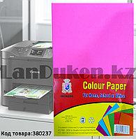 Бумага А4 (210х295 мм) для цифровой печати 80 листов неоново-розовый цвет
