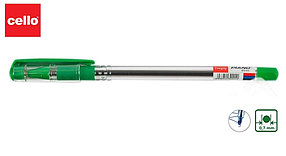 Ручка шариковая Cello Fine gripe зеленый ОРИГИНАЛ