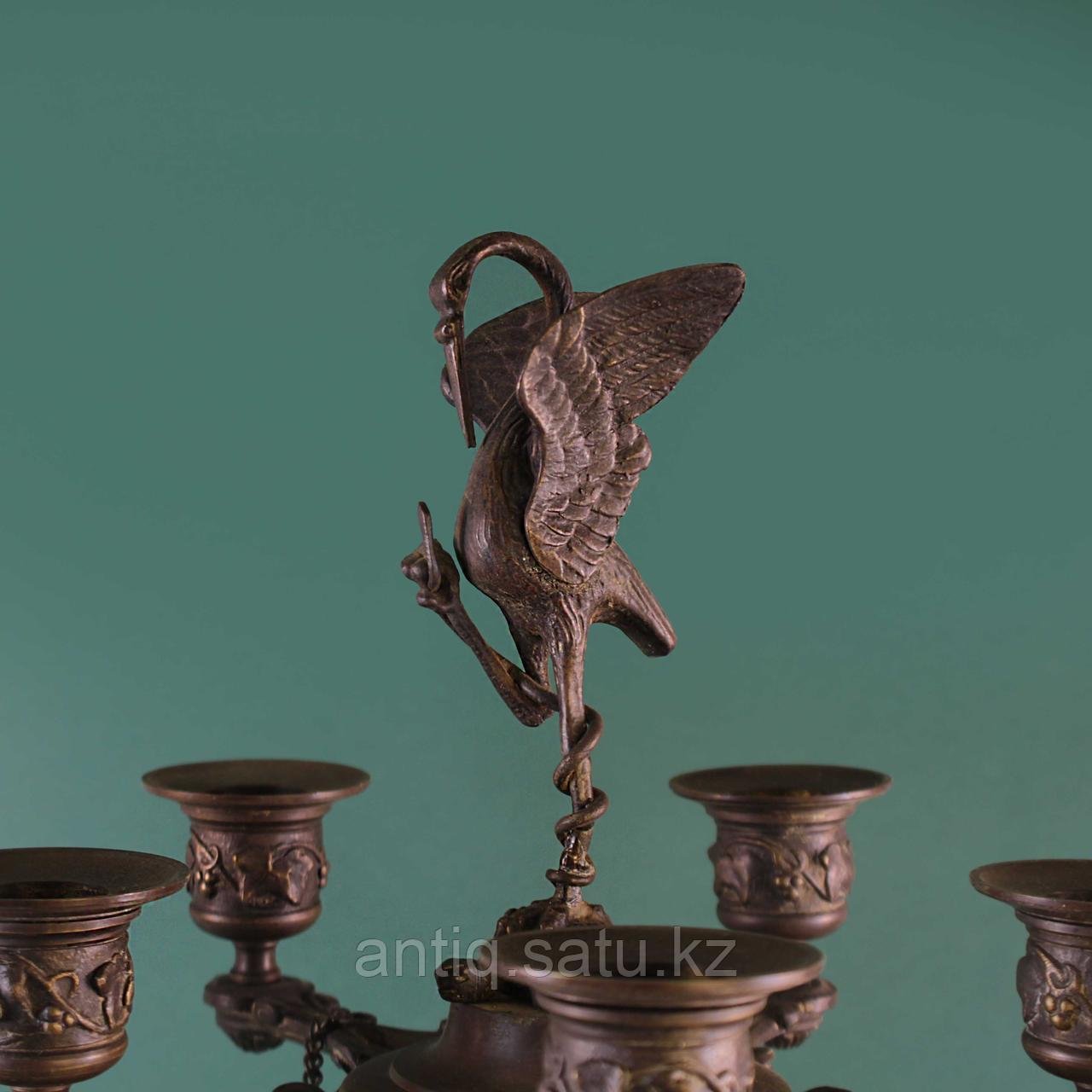 Парные канделябры в стиле Ампир. Франция. XIX век - фото 2