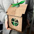 Деревянный подарочный ящик-домик, фото 2