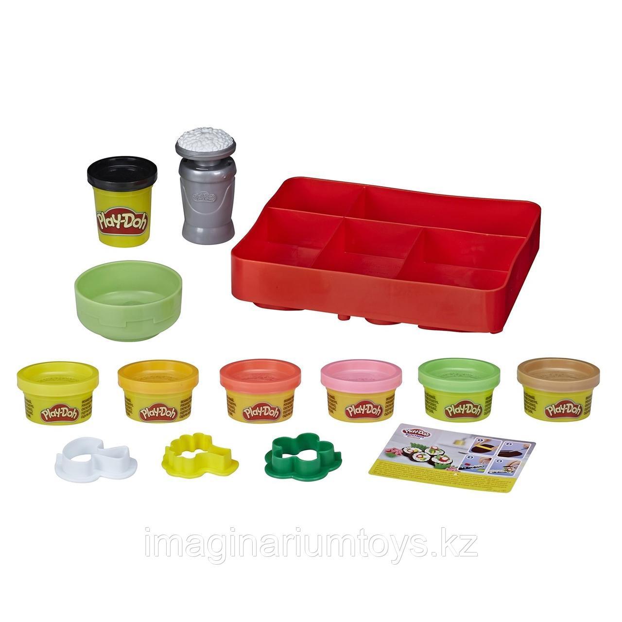Пластилин Play-Doh Плейдо набор с формочками «Сделай суши» - фото 2