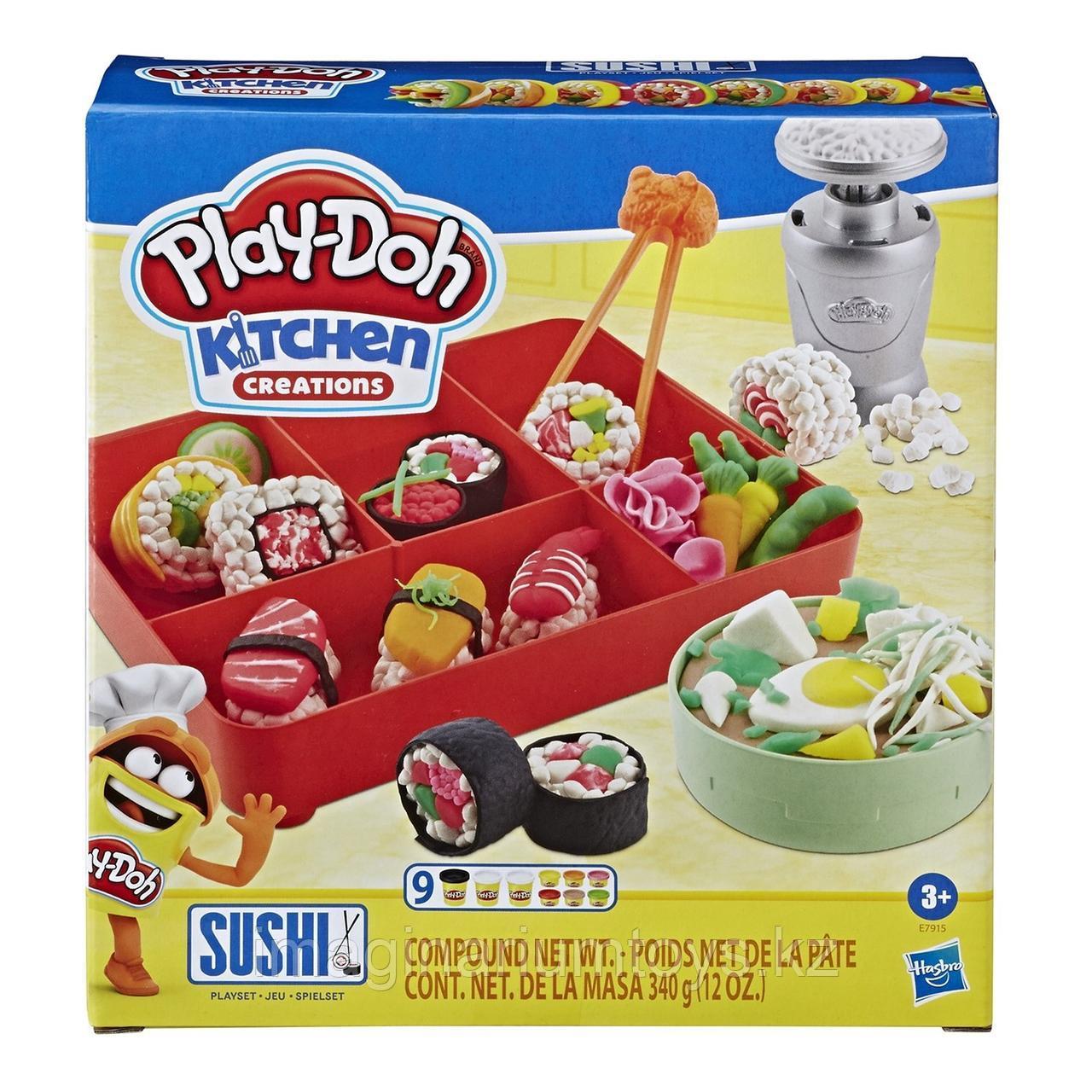 Пластилин Play-Doh Плейдо набор с формочками «Сделай суши» - фото 1