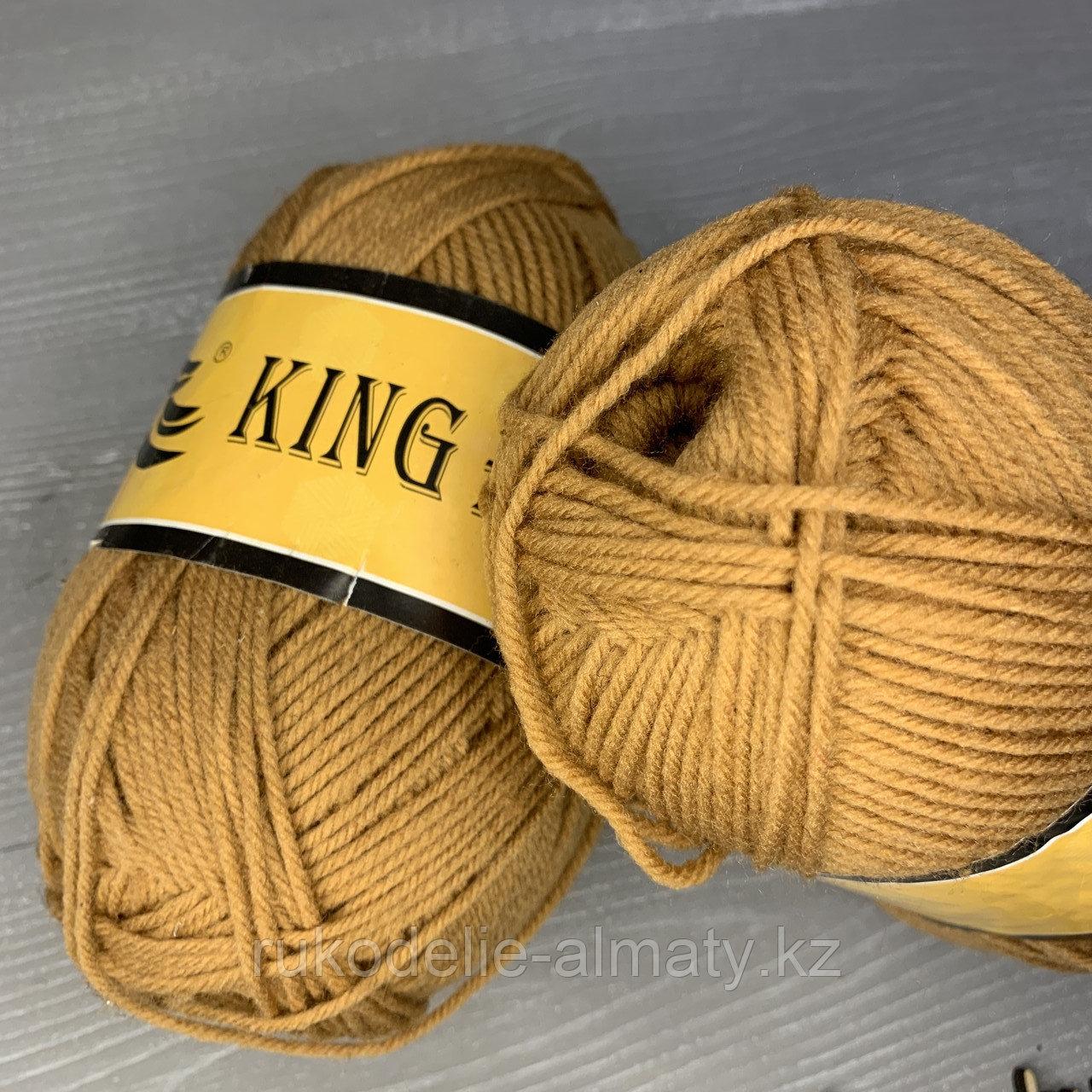 Пряжа акриловая премиум-класса King Bird светло-коричневый - фото 2