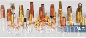 Газовое сопло Nozzle  d 21mm/ 72 mm ( с резьбой ) ( HRABI 300/450 ) для полуавтоматов MIG