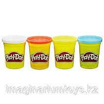 Пластилин детский Play-Doh набор 4 цвета в ассортименте