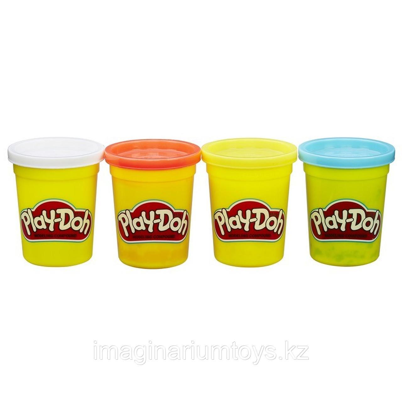 Пластилин детский Play-Doh набор 4 цвета в ассортименте - фото 1