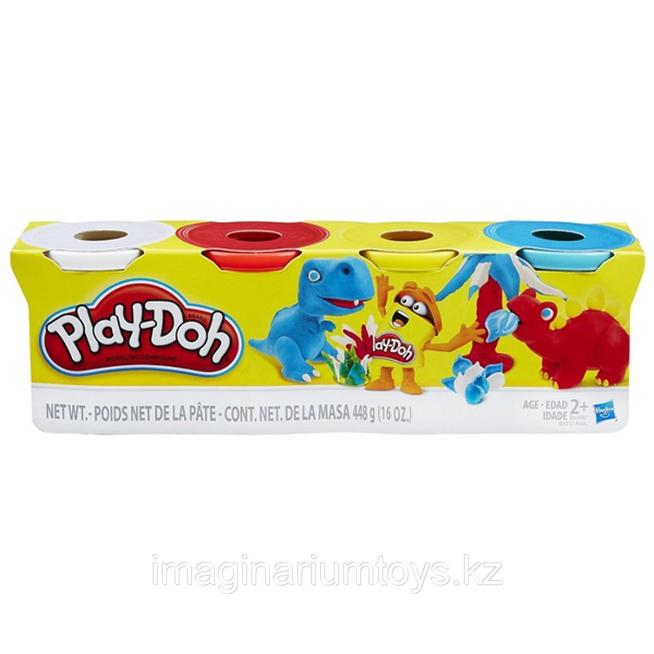 Пластилин детский Play-Doh набор 4 цвета в ассортименте - фото 2