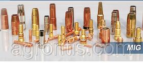 Газовое сопло Nozzle d18 mm/ 85 mm ( с резьбой ) ( HRABI 455 ) для полуавтоматов MIG