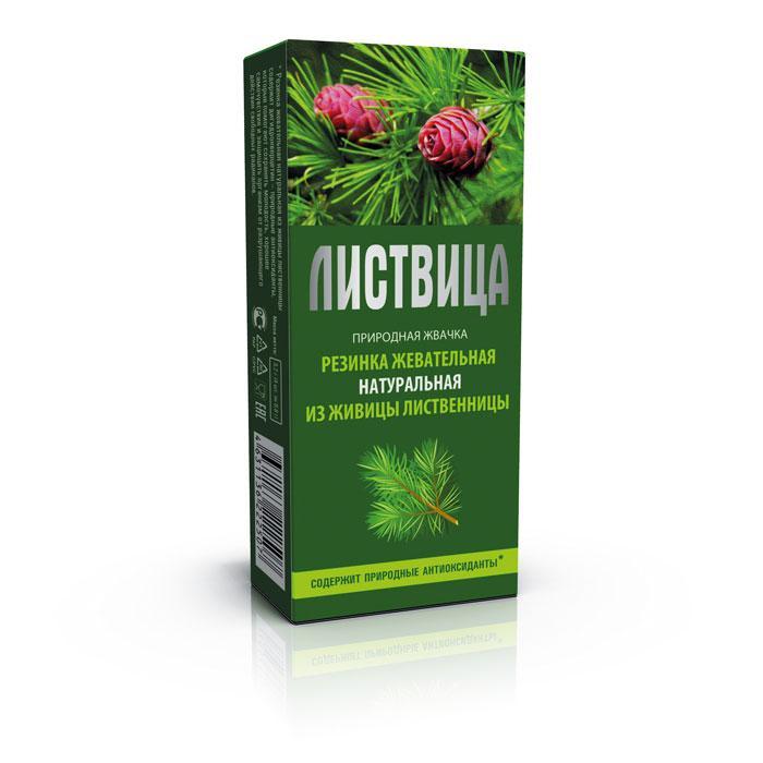 Смолка лиственничная «Листвица», резинка жевательная натуральная, 4шт по 0,8гр