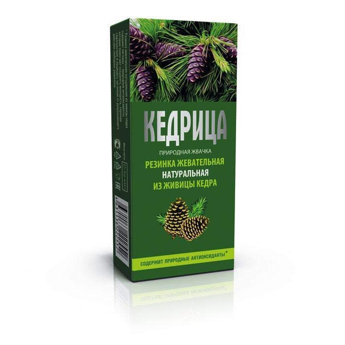 Смолка кедровая «Кедрица», резинка жевательная натуральная, 4шт по 0,8гр
