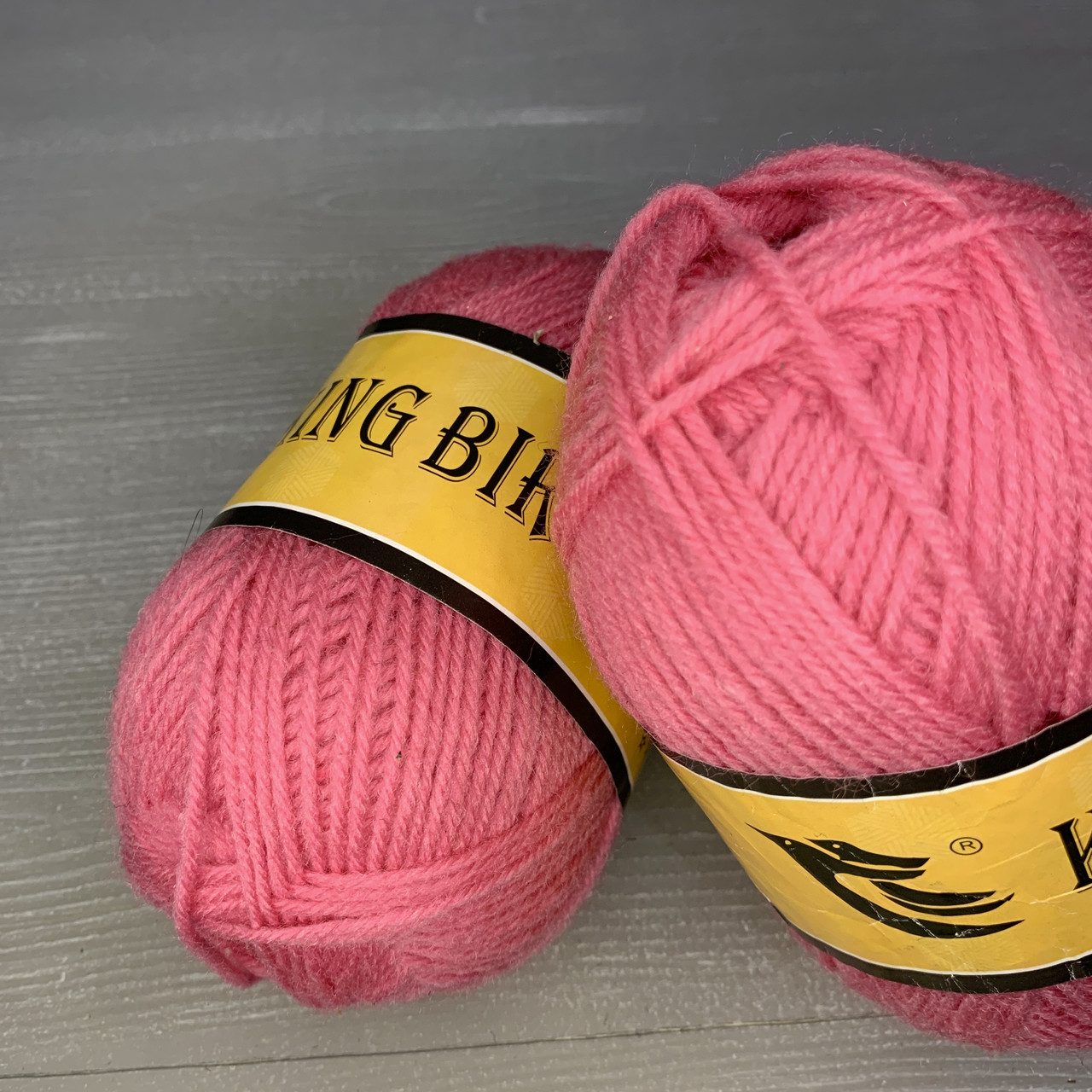 Пряжа акриловая премиум-класса King Bird розовый - фото 2