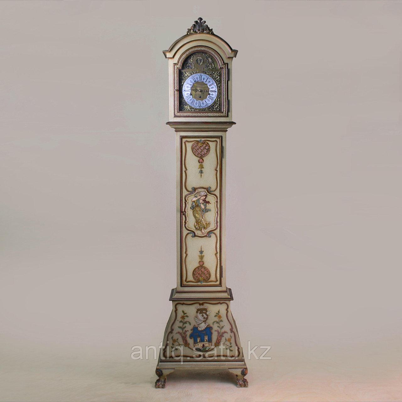 Напольные часы с рыцарским гербом. Германия. Середина ХХ века - фото 1