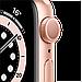 Watch Series 6, 44 мм, корпус из алюминия золотого цвета, спортивный ремешок цвета «розовый песок», фото 3