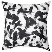 Подушка ТУРИЛЛ белый/черный 35x35 см ИКЕА, IKEA