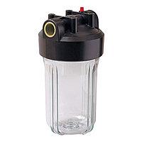 """Корпус фильтра Гейзер 10ВВ"""" 1"""" с латунными вставками для холодной воды, прозрачный"""