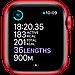 Watch Series 6, 44 мм, корпус из алюминия цвета (PRODUCT)RED, спортивный ремешок красного цвета, фото 5