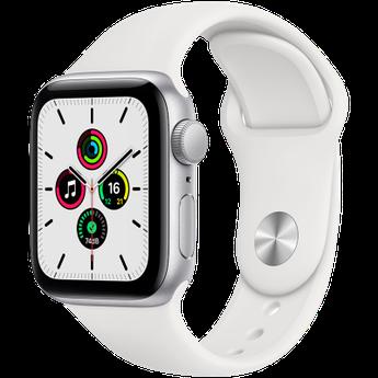 Watch SE, 44 мм, корпус из алюминия серебристого цвета, спортивный ремешок белого цвета