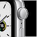 Watch SE, 44 мм, корпус из алюминия серебристого цвета, спортивный ремешок белого цвета, фото 3